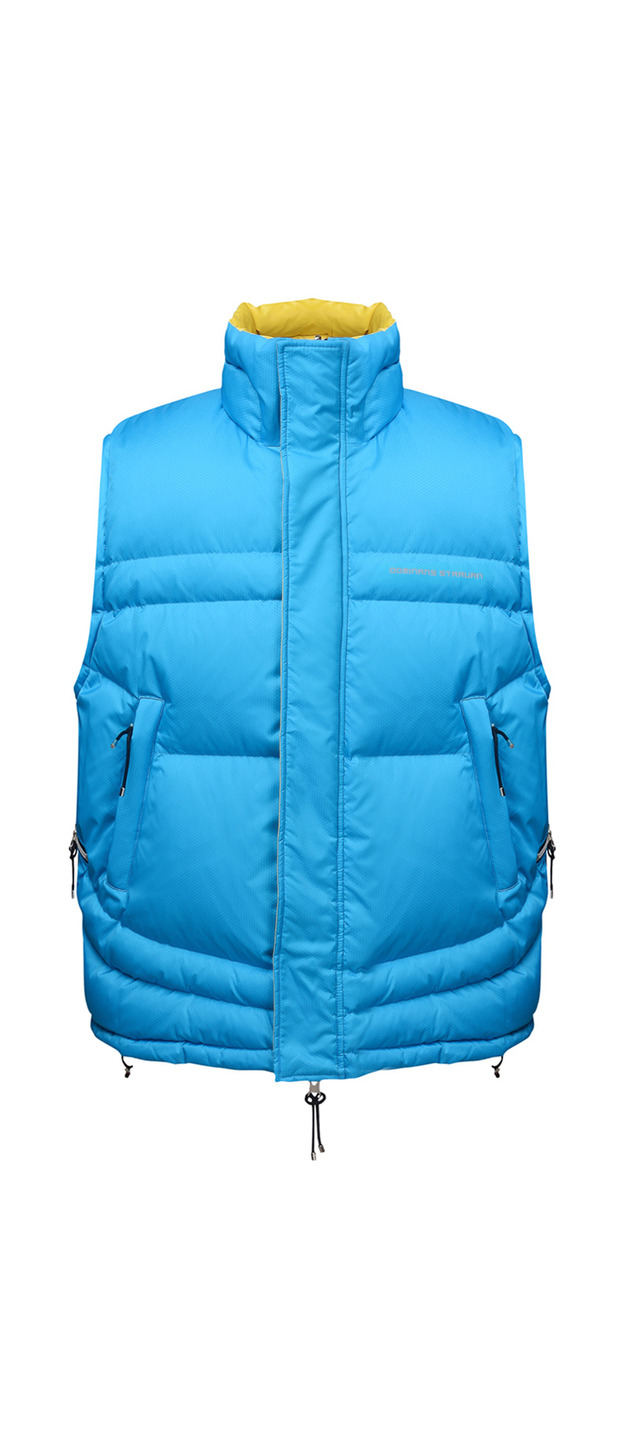 REVERSABLE  PUFFER GILET (BLUE & YELLOW)