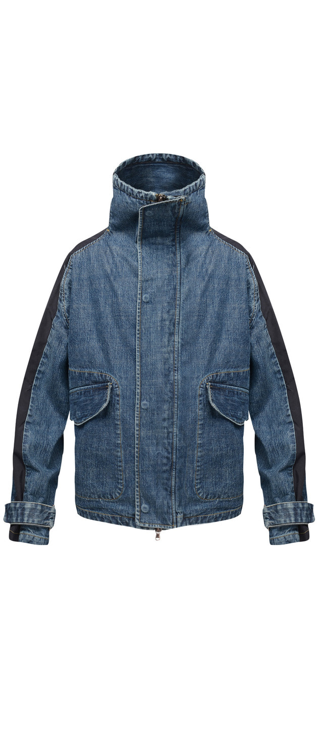 DENIM SHELL PARKA