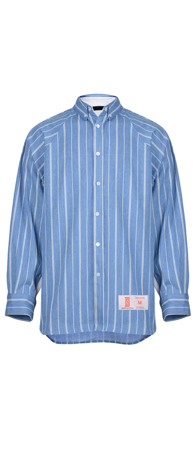 STRIPED HEAVY DENIM SHIRTS