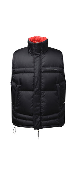 REVERSABLE  PUFFER GILET (BLACK & RED)